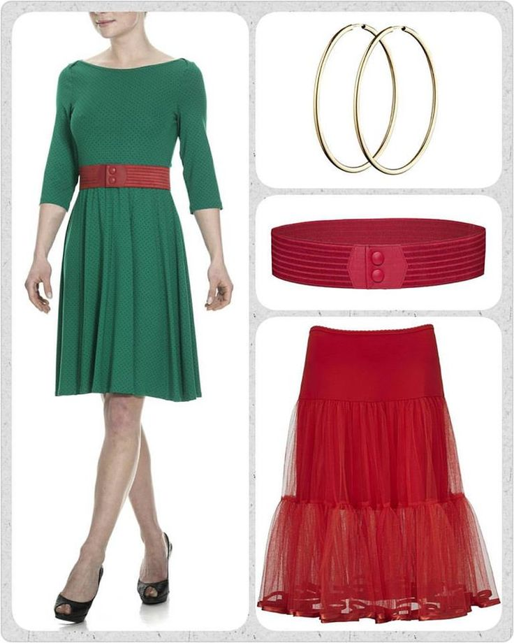 Sig mig en gang, hvordan ser sæsonens Celine kjole mon ud? -tænker du måske... Det skal jeg sige dig!  Den er grøn som håbet og med fine små prikker, lige som Vi elsker den 💚💚💚 Sæt den sammen med en masse røde accessories, et waist elastikbælte i taljen og et skønt tyl skørt. Og så lige et par hoop øreringe i guld.