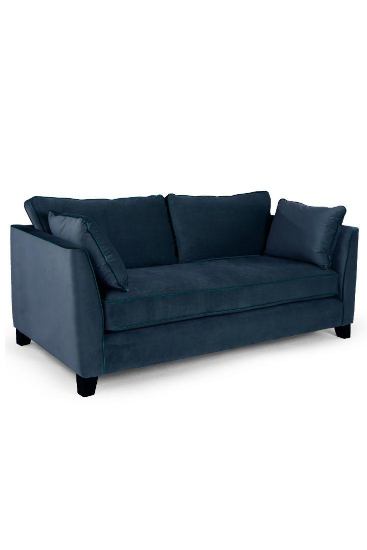 Sofa geschwungen  Wolseley 3-Sitzer Sofa in navyblauem Samt. Unsere Kunden sind very ...