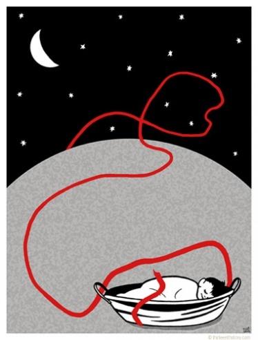 El hilo rojo del destino: Una leyenda cuenta que un anciano que vive en la luna, sale cada noche y busca entre las almas aquellas que están predestinadas a unirse en la tierra, y cuando las encuentra las ata con un hilo rojo para que no se pierdan.(China)