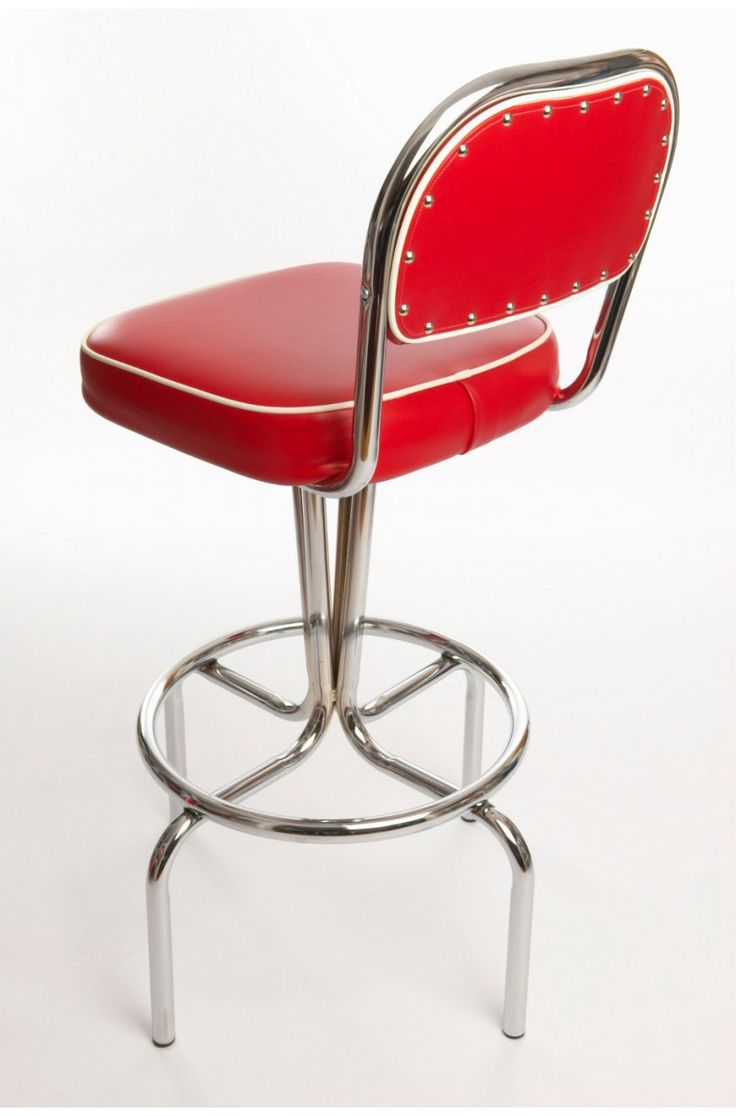 Red Kitchen Diner Bar Height Stool