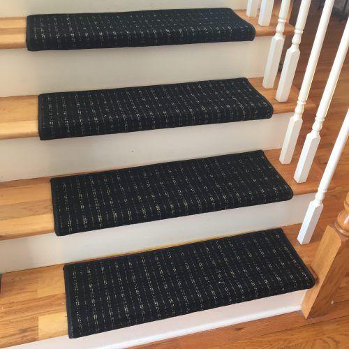 Longfellow Custom Wool TRUE Bullnose™ Carpet Stair Tread (Sold Each) |  Chaps Treads