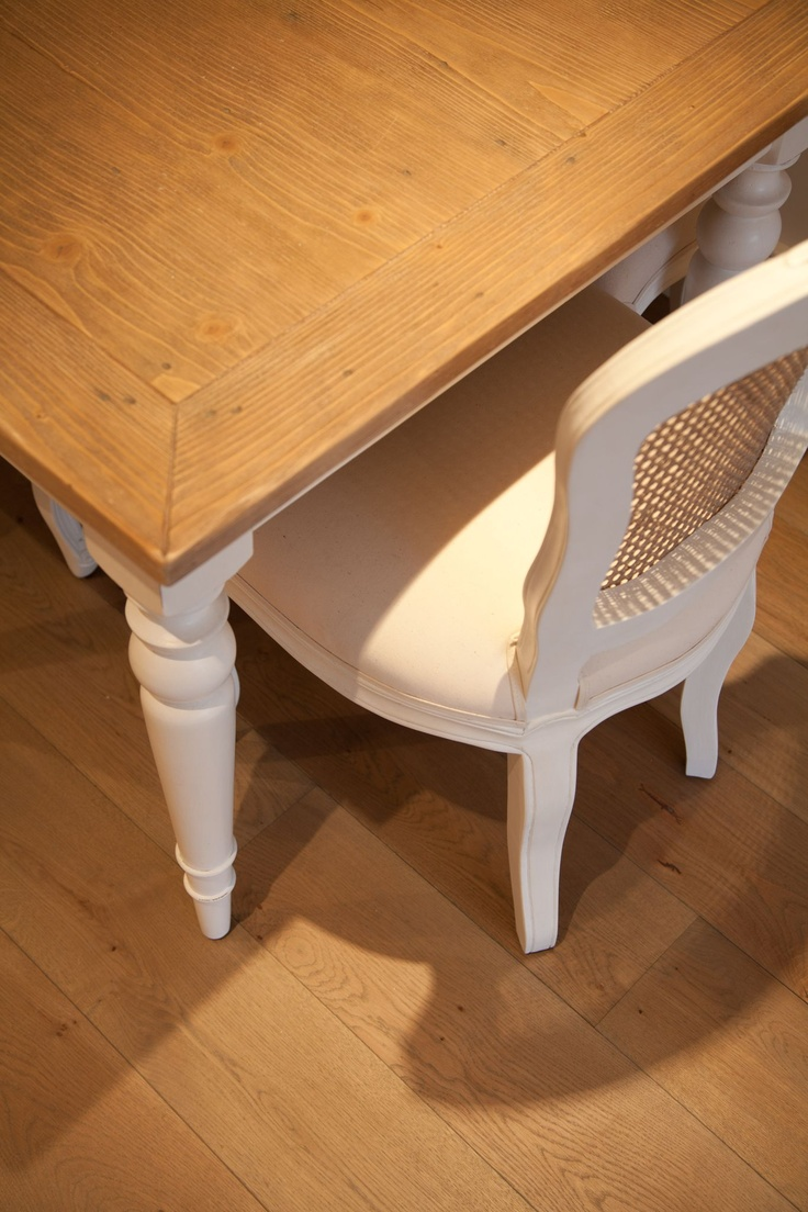 natural oak flooring compliments vintage country style furniture www.ecora.co.uk