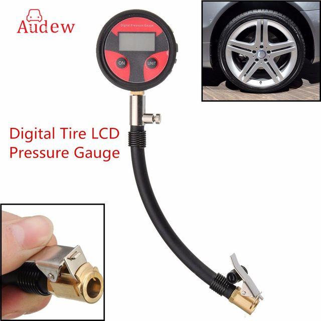 $8.11 - New 0-200PSI Metal Digital Tire LCD Manometer Air Pressure Gauge PSI BAR KPA