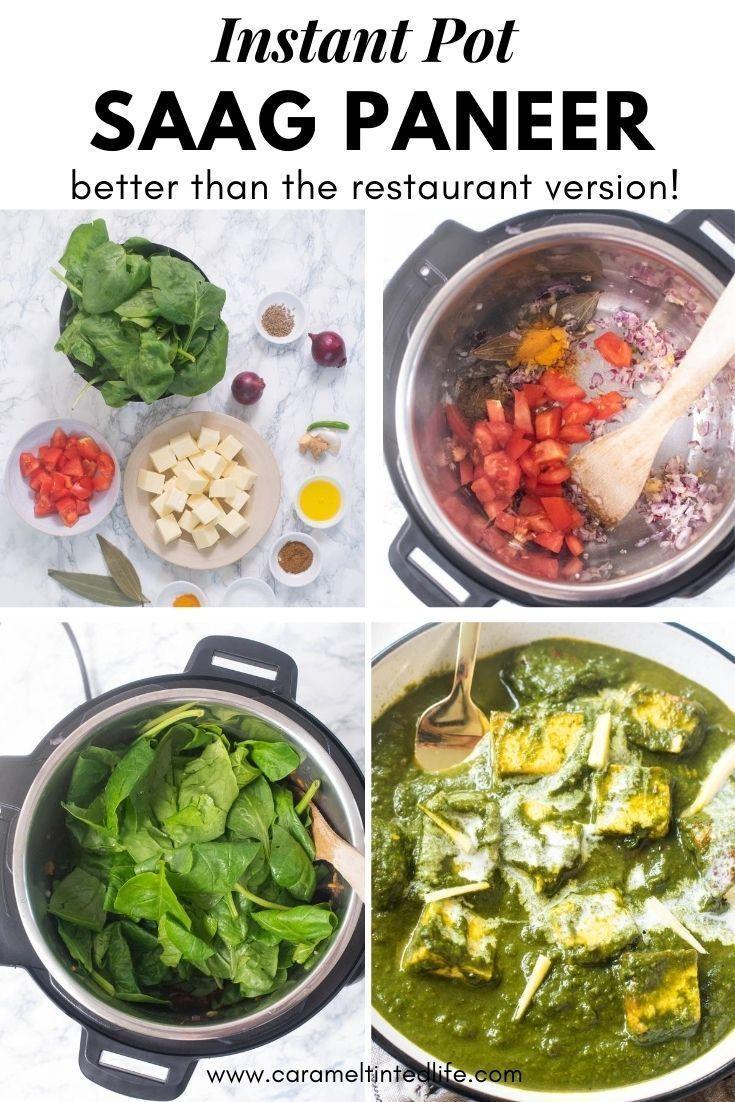 Saag Paneer Instant Pot Dinner Recipes Saag Paneer Easy Indian Appetizers