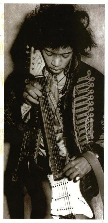 Jimi. Like a guitar player from another planet  Defined the guitar and how to take it to extreme  Levels . I first heard Are you experienced My friend worked at his record company and gave me a copy it was in mono , I took it home and put it on  I could not believe the level of playing I was convinced he was from the future , and that future is way beyond now .steve turner