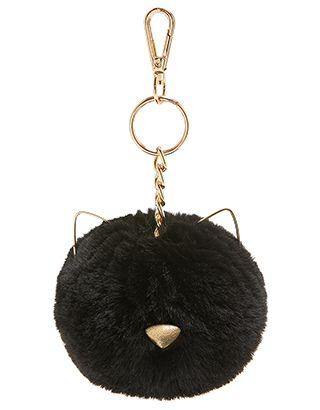 Tilly Cat Pom Pom Bag Charm