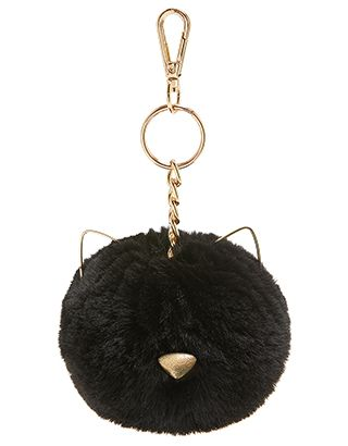 Tilly Cat Pom Pom Bag Charm