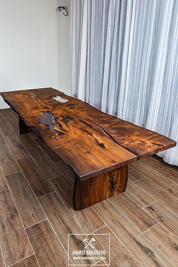 Modern Wooden Dining Table Made Of Solid Wood Ash With A Live Edge Table In Rustic Style For 8 Person Wood Dining Table Wood Table Legs Live Edge Dining Table