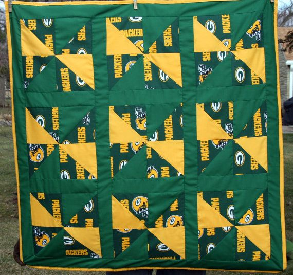 9 best Green bay packers images on Pinterest | Baby quilts, Boy ... : green bay packers quilt - Adamdwight.com
