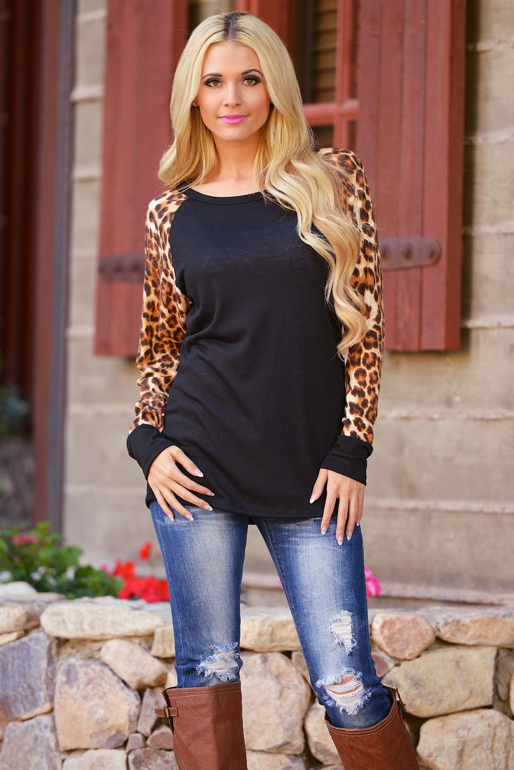 Baby It's a Wild World Leopard Top - Black from Closet Candy Boutique