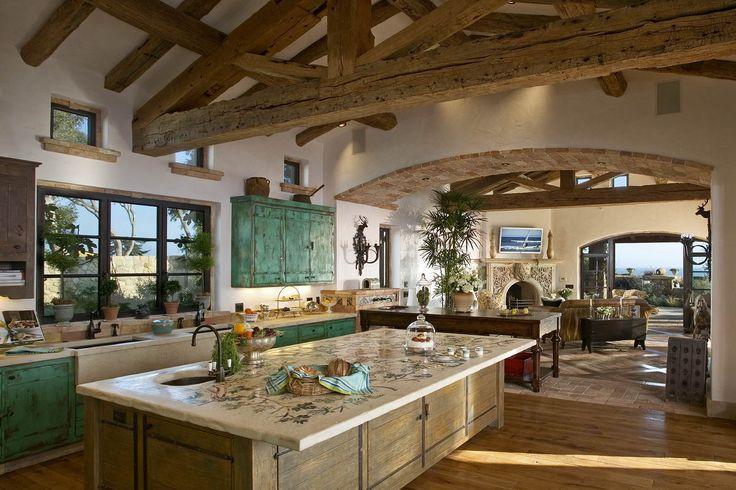 Italian Tuscan Farmhouse Estate Oceanfront Santa Barbara