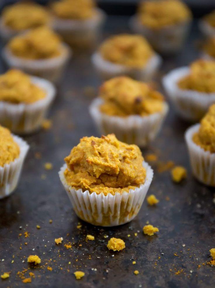 Sweet Potato Turmeric Muffins (Grain Free, Refined Sugar Free, Protein-Packed)