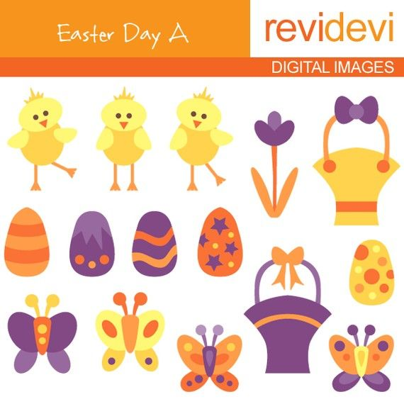Easter clipart  Easter Day A 08044  Digital Images  by revidevi