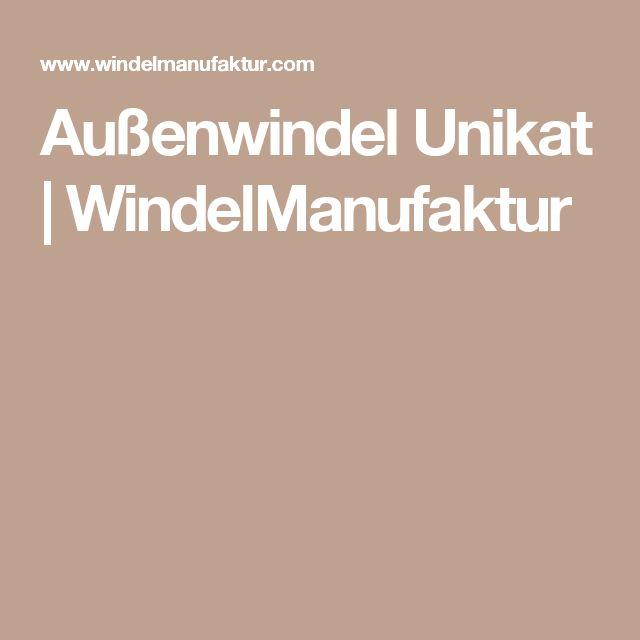 Außenwindel Unikat | WindelManufaktur