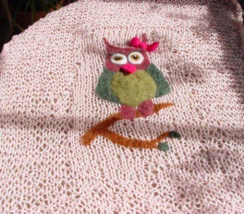 Gestrickte rosa Babydecke  Stola  Couch Überwurf von MiniSoulmates