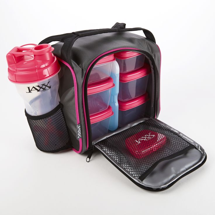 Jaxx Pack with Portion Control Containers & Shaker Cup (Pink) #jaxxfitness #fuelpack #fitfresh