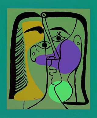 "Pablo Picasso, ""Portrait of Jacqueline with Glossy Hair"", (Feb. 16, 1962…"