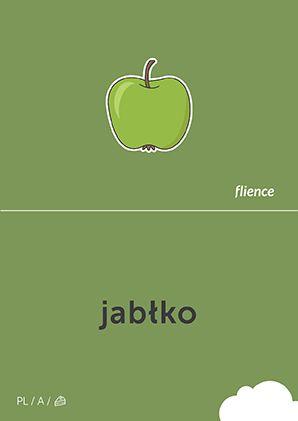 Jabłko #CardFly #flience #food #fruits #polish #education #flashcard #language