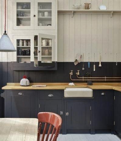 siyah beyaz mutfak dekorasyon fikirleri mutfak dolap tezgah rengi ustu fayans rengi duvar yer seramik aksesuar alet (1)