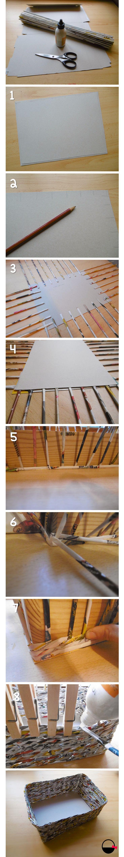 Cómo hacer una cesta de papel en 8 pasos! Por Baskiuts baskiuts.wordpress.com