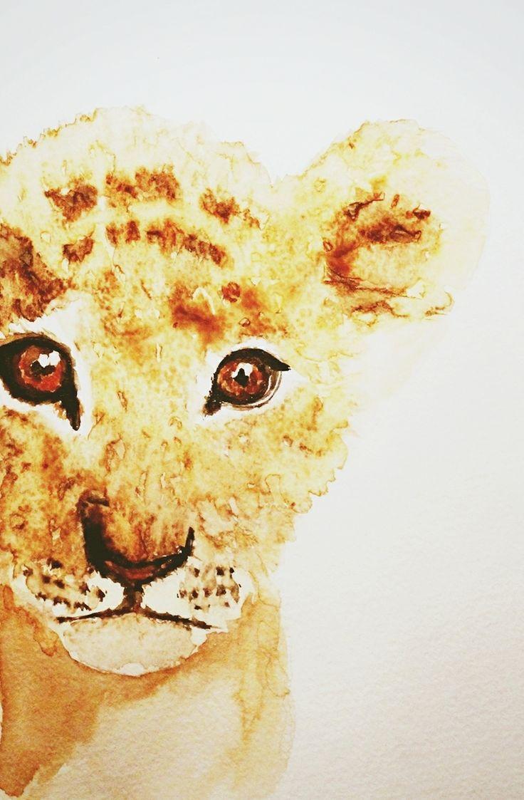 leon watercolor