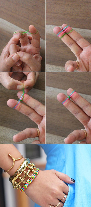 fishtail finger loom band bracelet