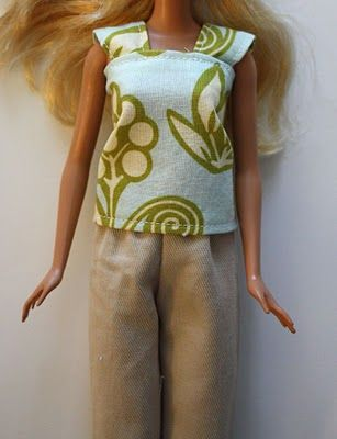 Seriously, NEVER did I imagine I would sew Barbie clothes, I think I might cave in on this, those poor Barbies in the bin need some new clothes :) and I am not buying them, have you seen how much they are at the store!!!