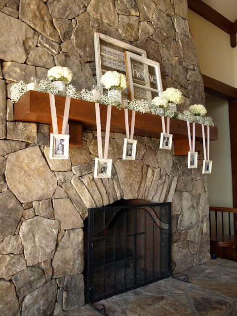 mantle decorations for wedding | Add a modern twist to the decoration, decorate your mantle with chalk ...