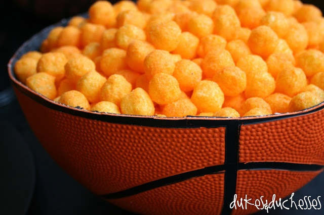 Cut a basketball in half and use it to serve snacks