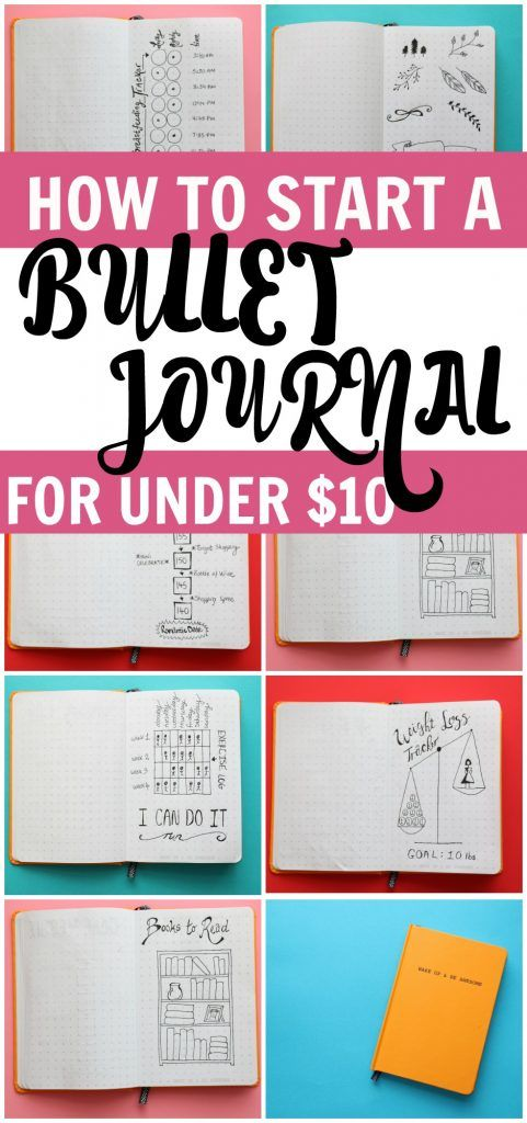 How to start a bullet journal for under $10. You can start a bullet journal with…