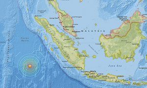 A powerful earthquake of magnitude 7.8 has struck off the west coast of the Indonesian island of Sumatra, the US Geological Survey (USGS) has said. USGS earthquake map Wednesday 2 March 2016 10.32 EST