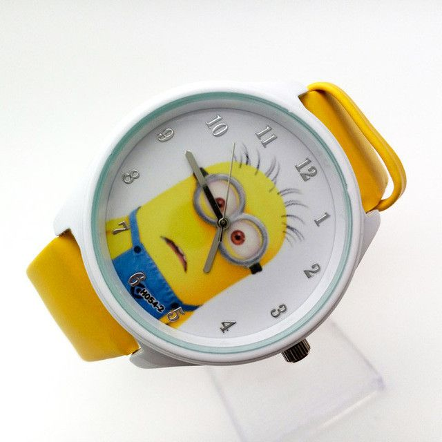 Tell time with this cute Minion Watch! - Perfect for any Despicable Me or Minions fans! - Suits for kids about 9 inches in length Please allow 4-6 weeks for shipping Item Type: Wristwatches Case Mater