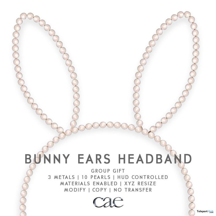 Bunny Ears Headband March 2018 Group Gift by Cae