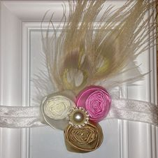 Peacock's Plume -  Ivory, Fuchsia and Gold