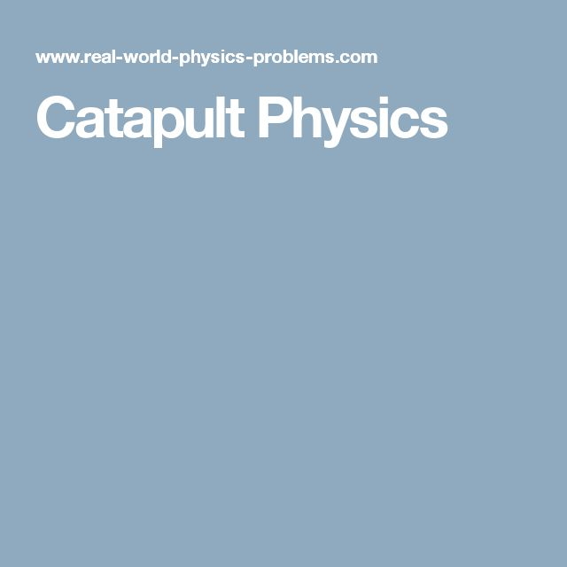 how to build a simple catapult for physics