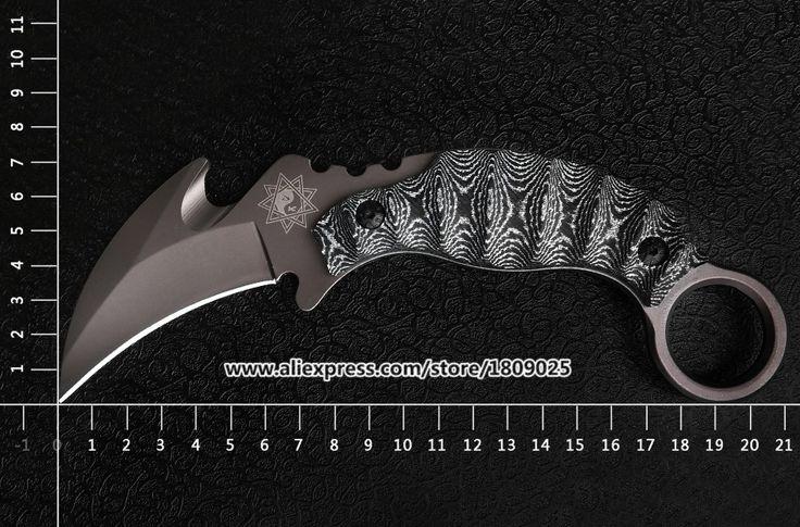 Worldwide free freight - Survival Karambit Wild Boar Knife Claw Faca Militar Facas De Combate Sharp Jungle Knives Canivete Tatico Machete Couteau Messer