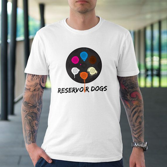 Reservoir Dogs Design Cotton Shirt by TheRizzofiedStudio for all Quentin Tarantino fans! CLICK now to buy from only $20.00 Or visit www.TheRizzofiedStudio.etsy.com to view all products #ReservoirDogs #Tarantino #etsy #tshirt