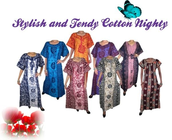 Indian Clothing Style: Womens Cotton Nightwear and Sleepwear Dresses