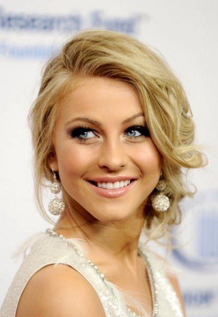 loose updo. juliannehough