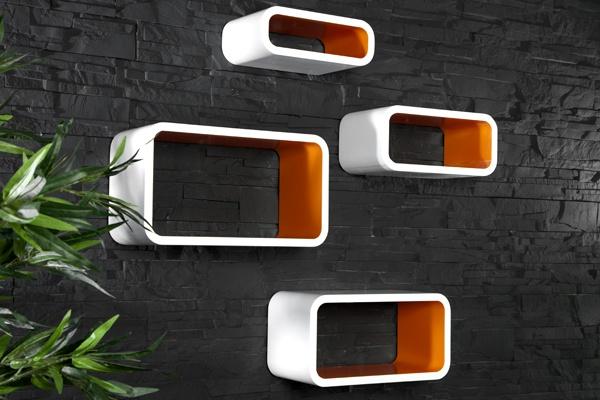 Club Cubes in weiss orange bei Riess Ambiente