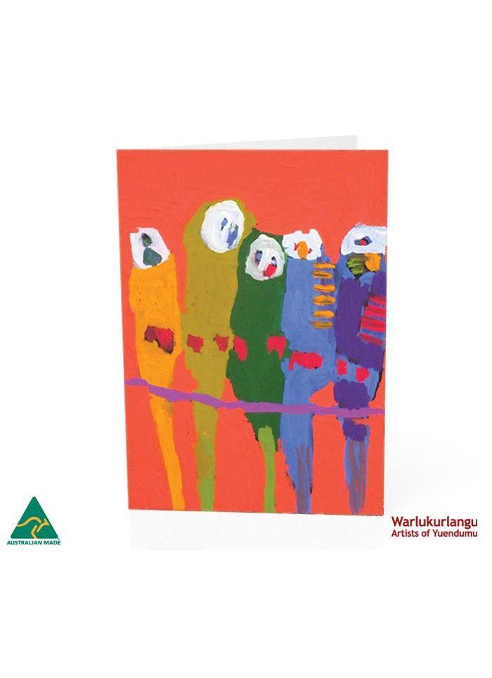 Birds of Yuendumu  Art Card -  Red Five