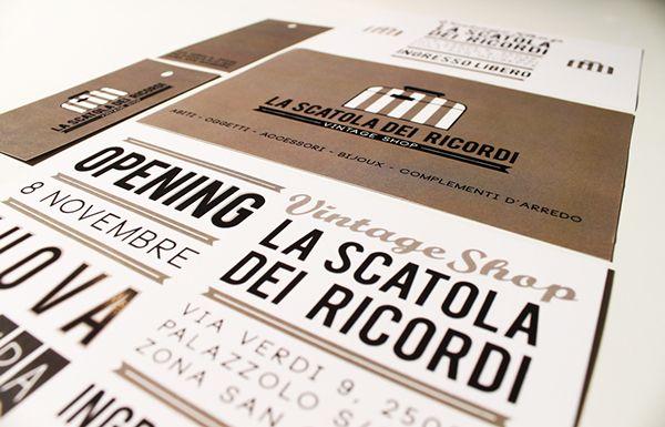 Logo and branding for a Vintage Shop in Brescia - designer for morenapiacentini studio