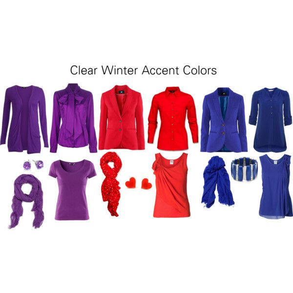 """Clear Winter Accent Colors"" by katestevens on Polyvore"
