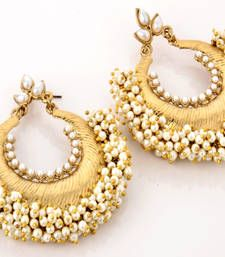 Buy Traditional White Zumkhi Earring Earring online