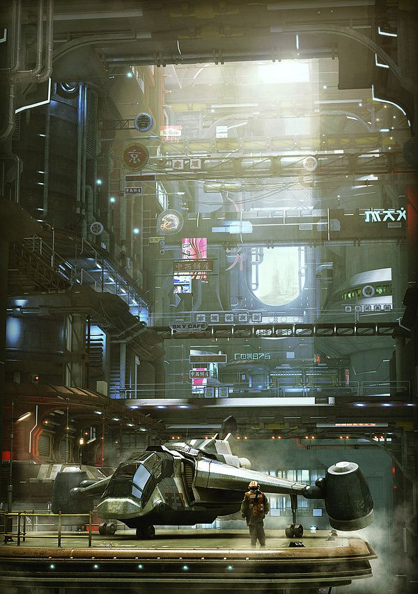 3d Worlds by Stefan Morrell. Read Starship Troopers by Robert Heinlein then look at this again