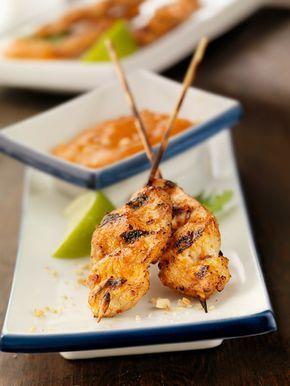 Oppskrift: Kylling Satay med peanøttsaus