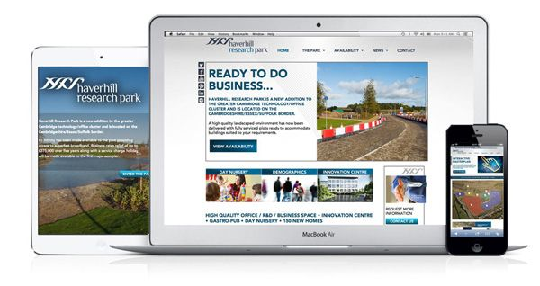 The Haverhill Research Park developers, Carisbrooke Investments, identified a need for branding at the outset of the project and approached iD to help with the Park identity, website, brochures, advertising and signage