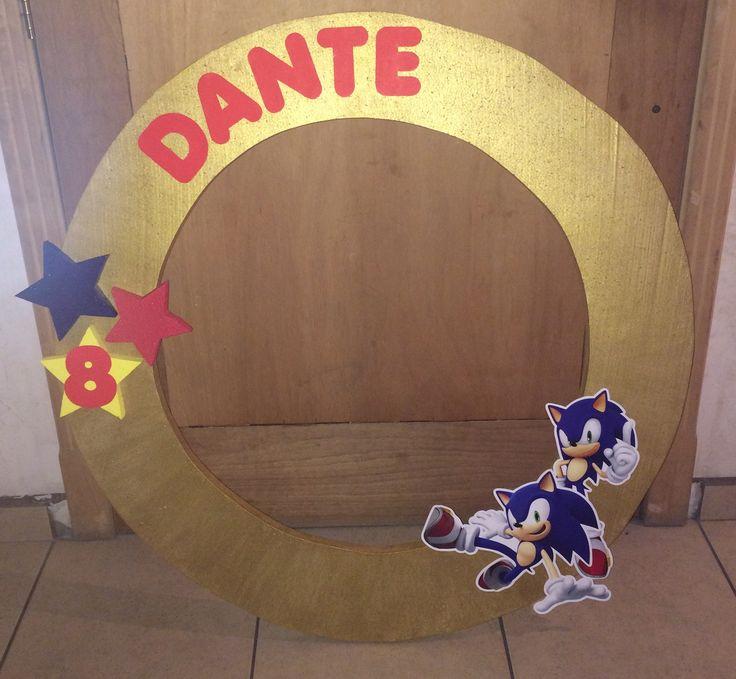 marco gigante para fotos: Sonic