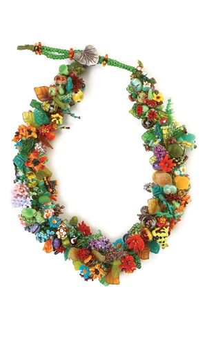 Single-Strand Necklace with Glass Beads and Seed Beads - Fire Mountain Gems and Beads