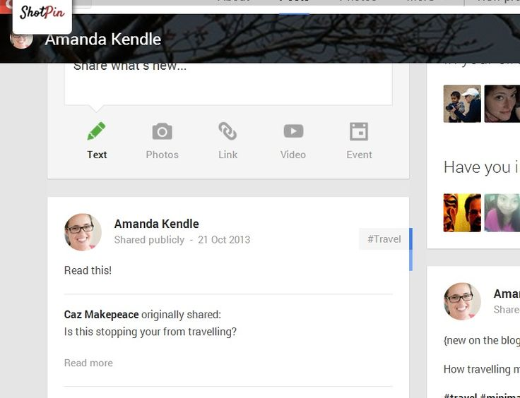 Google+ profile - http://plus.google.com/+AmandaKendle